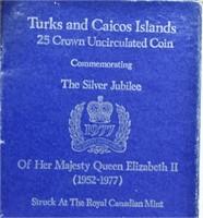 Silver 25 Crowns - Elizabeth II Silver Jubilee