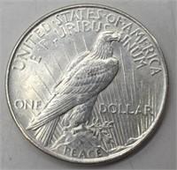 1922 P Silver Peace Dollar AU