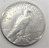 1923 D Silver Peace Dollar XF