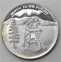 Alaska Silver Anniversary One Oz 999 Fine Silver