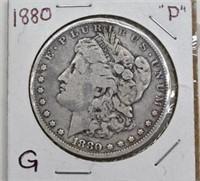 1880 P Morgan Silver Dollar G