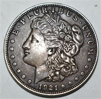 1921 P Morgan Silver Dollar XF