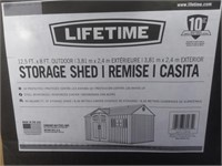 Lifetime 12.5 x 8' Outdoor Storage Shed