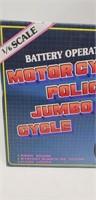 Motorcycle Police Jumbo Cycle, Battery operated