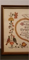Hand painted Tole paint & ink, Marriage