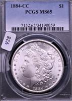 1884 CC PCGS MS65 MORGAN DOLLAR