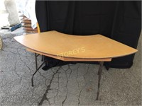 Curved Folding Wood Table - 76 x 36