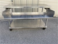 """Prepping Table 56""""x26"""" Woth a pull out"""