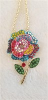 3 Betsy Johnson Necklaces. 1 is Pendant or Broach