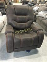 Brown Elec. Reclining Arm Chair