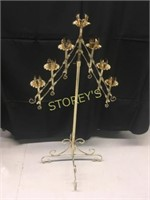 7 Tier Brass Candle Stand - 24 x 48