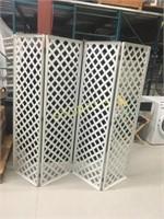 4 Panel Plastic Lattice Room Divider - 20 x 73