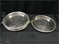 """5 Silver Gallery Trays - 12.5"""""""
