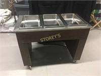 Vollrath 3 Well Steam Table on Wheels