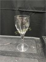 19 Crystal Wine Glasses
