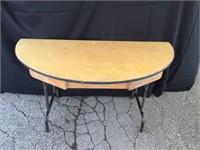 1/2 Moon Folding Wood Table - 60 x 30