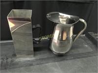 S/S Water Pitcher & S/S Milk Jug