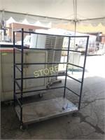 Mobile Open Steel Cart - 50 x 24 x 68