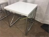 White Metal Nesting Table - 20 x 20 x 21