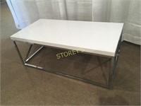 White Metal Coffee Table - 44 x 22 x 17