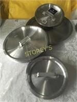 8 NEW Asst Alumin Stock Pot Lids
