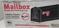 Mailbox, deluxe plastic, black