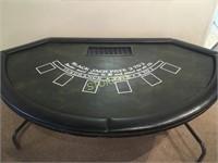 Folding Black Jack Table w/ Cover - 72 x 42 x 30