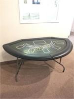 Folding Black Jack Table w/ Cover - 60 x 35 x 30