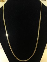 """18K Gold necklace 18"""" wieght 8.1g"""