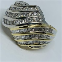 14KT YELLOW GOLD 2.25CTS DIAMOND RING 10.50 GRS