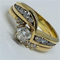 14KT YELLOW GOLD 1.00CTS DIAMOND RING FEATURES