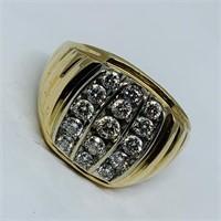 10KT YELLOW GOLD .78CTS DIAMOND RING