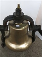 SMALL BRASS TRAIN BELL FROM YARD ENGINE