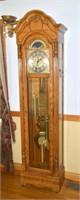 Howard Miller Grandfather Clock - Oak Case Clock