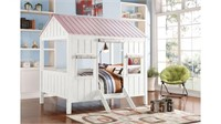 Acme Spring Cottage Full Bed in White/Pink 37695F
