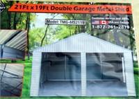 N-645 Double Garage Door Shed