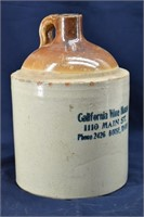 California Wine House Boise, Idaho 1-Gal Jug- Rare