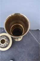 Large Heavy Brass Zodiac Incense Burner or Candle