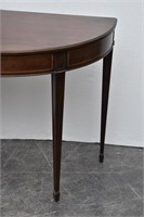 Half-Moon  Wood Hall Table/Console Table