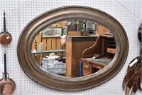 Chunky Large Oval Beveled Edge Mirror