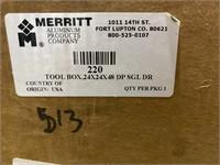 Merit aluminum toolbox, 24x24x48, looks to be new
