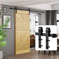 6.6 FT Sliding Barn Wood Door Hardware Kit