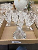 Waterford Goblet, 12 Claret Stems &  Crystal Bell