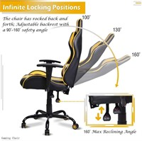 FERGHANA Video Gaming Chair,Racing Style