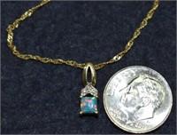 """Gorgeous 14K Fiery Opal 18""""  Necklace"""