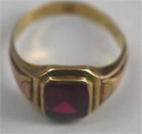 Vintage 10K Man's Birthstone Ring