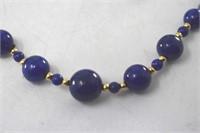 ADPG Lapis Lazuli 14K Gold Bead Necklace