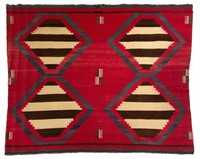 Excellent antique Native American Navajo woven blanket/rug