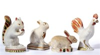Collection of chalkware figures