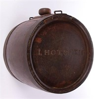 """Historical Civil War canteen belonging to Jedediah """"Jed"""" Hotchkiss (1828-1899), famed Confederate cartographer who lived in Staunton, VA"""
